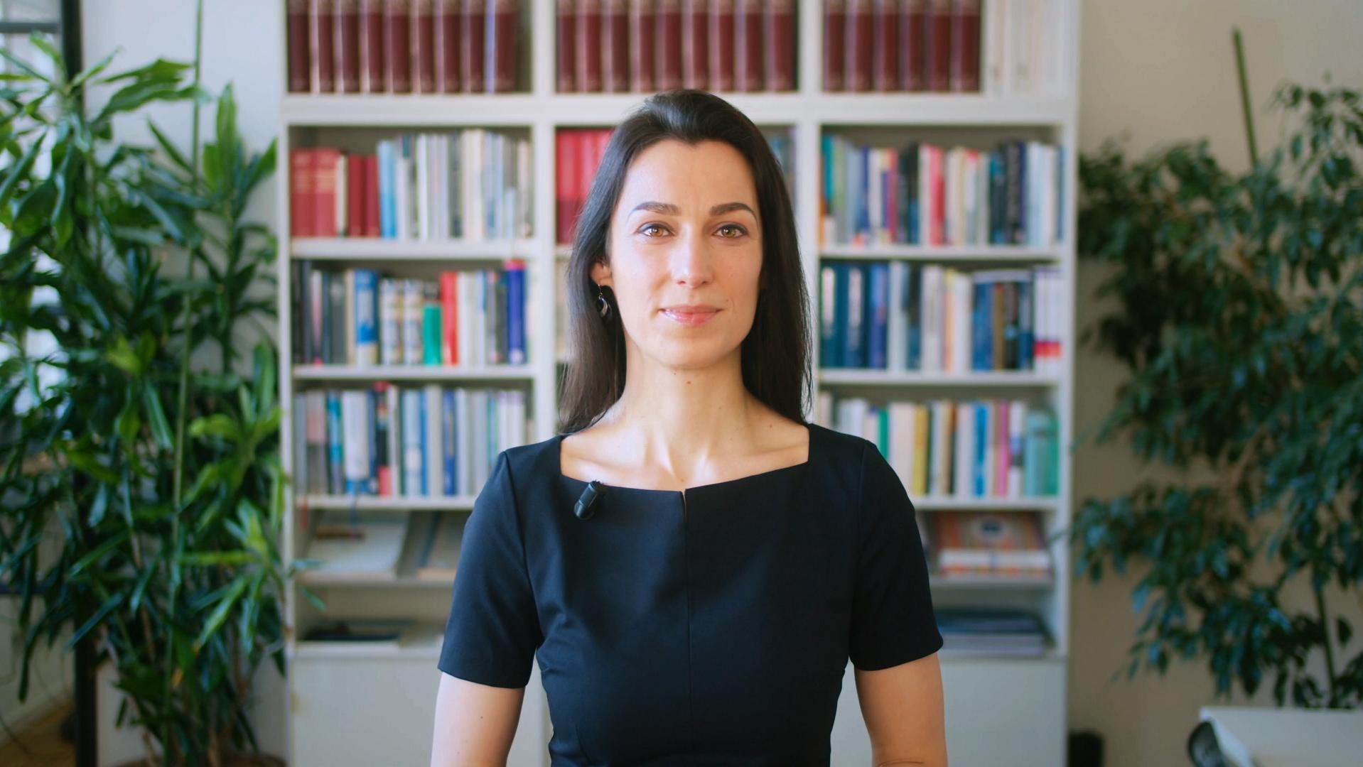Michaela Sadewasser mit einer Videobotschaft zum Frankfurter Zukunftskongress
